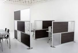Delightful Office Room Design Scheme with Contrast Room Divider