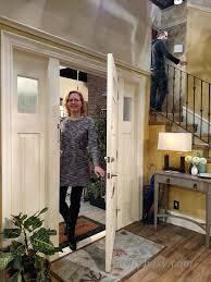 Walking Through Door This Woman Is Walking Through Her Front Door So