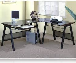 l shaped home office desk. Decorating Glamorous Home Office L Desk 22 Shaped Desks