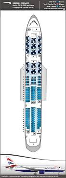 British Airways Boeing 787 And Airbus A380 Seat Map