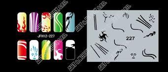 šablona Na Nehty Airbrush Nail Art Fengda Jfh12 227