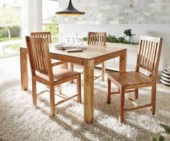 Esstisch Indra Akazie Natur 140x90 Cm Massivholz Möbel Tische Esstische