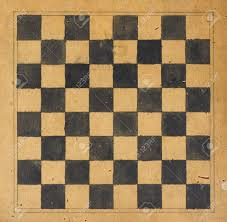 Vintage Wooden Board Games Vintage Wooden Game Board For Playing Draughts Or Checkers Stock 53