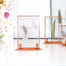 copper standing scandi photo frame