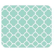 Quatrefoil Pattern Custom Amazon NonSkid Natural Rubber Back Mint Quatrefoil Pattern