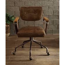Office chair vintage Rolling Shop Acme Hallie Executive Office Chair Vintage Whiskey Top Grain Leather Free Shipping Today Overstockcom 19398757 Overstock Shop Acme Hallie Executive Office Chair Vintage Whiskey Top Grain