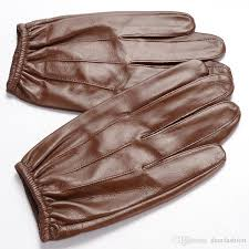 men s lambskin touchscreen leather gloves thin police search duty gloves fashion driving gloves for spring autumn