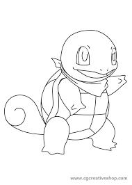 Squirtle Dei Pokemon Disegno Da Colorare