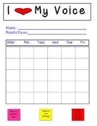 Data Chart For Kids Speech Therapy Voice Vocal Abuse Data Chart