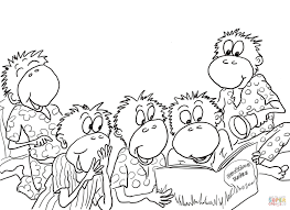 Small Picture Five Little Monkeys Reading in the Bed coloring page Free