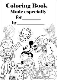 make your own coloring book print this cover and a dozen or so print a oad of colouring pages from the net then use this sheet as the cover page for your very own book great for party