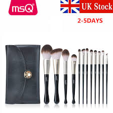 dels about msq pro 12pcs makeup brushes set kabuki foundation eyeshadow blend brush kits uk