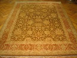 image is loading fantastic design handmade rug 9x12 brown agra wool