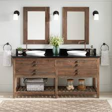 Rustic double bathroom vanity Farmhouse Style Beachcrest Home Coral Rustic 30 Inch Wood Double Bathroom Vanity Porcelain And Euro Sink Plus Wall Mounted Faucet Framed Bathroom Mirror Autosvit Bathroom Design Modern Bathroom Vanity Beachcrest Home Coral Rustic 30 Inch Wood Double
