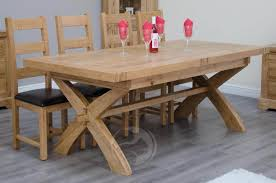 solid oak dining table coniston rustic solid oak x leg extending dining table mjaduwy