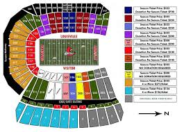 Uofl Football Stadium Seating Chart Louisville Cardinal Stadium Seating Chart Papa Johns
