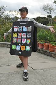 iphone costume. the m\u0026m bag costume is constructed similar to hershey\u0027s bar i made last year. for red guy on front, scanned in and magnified iphone
