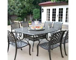 vintage cast aluminum patio furniture 8 person cast aluminum patio dining set with lazy antique bronze