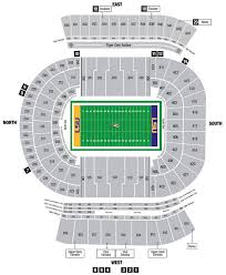 Lsu Seating Chart With Rows Tiger Stadium Seating Chart With Rows Tiger Stadium Seating