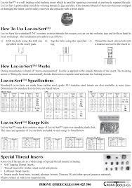Keensert And Ez Lok Thread Repair Cross Tools Co