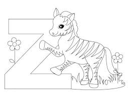 All of it in this site is free, so you can print them as many as you like. Here S A Simple Animal Alphabet Letter Z Coloring Page And Template For Kids This Alphabet Letter Z Coloring Page For Kids Can Be Used For Learning The Let