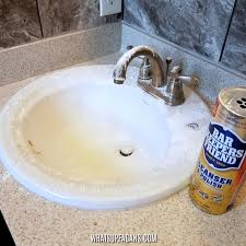 how to clean porcelain sink with bar keepers friend
