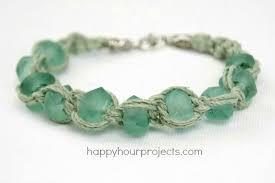 Macrame Bracelet Patterns Best Glass Bead Macrame Bracelet Happy Hour Projects