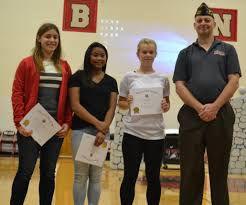 cbna sophomores selected in vfw voice of democracy contest coe cbna sophomores selected in vfw voice of democracy contest