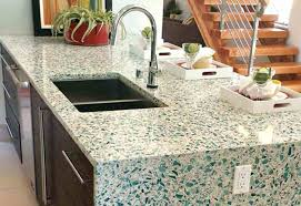 glass counter top kitchen island with sink and recycled glass friendly recycled glass glass countertops diy