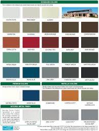 Steel Roof Color Chart Englert Metal Roof Color Chart