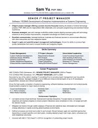 Resume Project Manager Bestresume Com