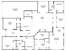 one story four bedroom house plans 4 bedroom single story house plans