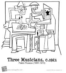 There is a great deal that kids can learn from picasso's work. Pablo Picasso Freebies Picasso Coloring Pablo Picasso Three Musicians
