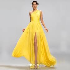 <b>Elegant</b> Classic Charming <b>Yellow</b> Empire Evening Dresses 2020 A ...