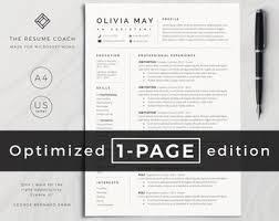 Modern Resume Style Esty Resume Template Etsy