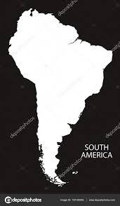 南アメリカ地図黒と白 ストックベクター Ingomenhard 134104446