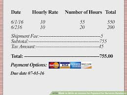 service rendered invoice how to write an invoice for payment for services rendered with