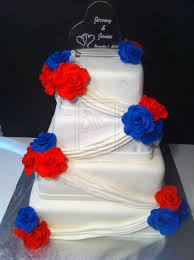 Red White And Blue Wedding Cake Decorations