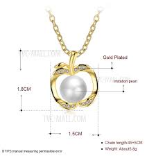 lkn18krgpn1044 cute apple design popular pearl necklaces pendant necklace for girls tvc mall com
