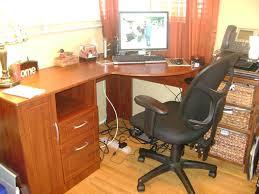 image of small corner desk cherry