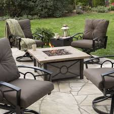 chairs fire table patio set pit designs dining outdoor with swivel and chair sets