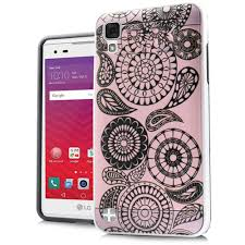 lg x style. lg x style - paisley pink metal design hybrid rugged case, lg