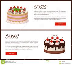 Cake Design Shopping Online Cakes Variety Page Online Shop Vector Illustration Stock