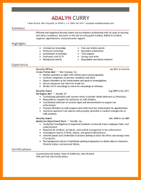 Security Guard Resume 100 Security Guard Resume Mla Cover Page 76