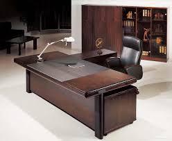 interesting furniture design. Furniture:Luxurious Executive Office Desk Furniture In L Shape Design Combine Black Leather Chair Interesting O