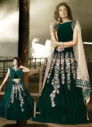 Designer Anarkali Suits Uk Buy Sweet Green Velvet Designer Anarkali Suit In Uk Usa And Canada