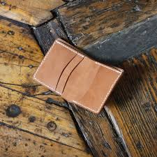free leather bi fold wallet pdf template 3