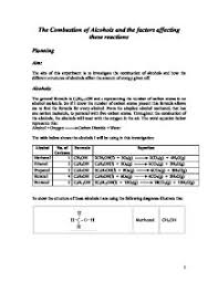 reaction of alcohol lab gcse science marked by teachers com related gcse organic chemistry essays
