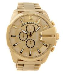 diesel accessories watches dillards com diesel mega chief gold stainless steel ip chronograph bracelet watch