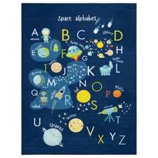 sweethome kids collection navy space and alphabet design 3 ft 3 in x 5